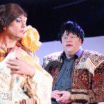 Fred Rutting en Bert Wijers in Assepoester in een nieuw jurkje gestoken van Roestvrijtheater
