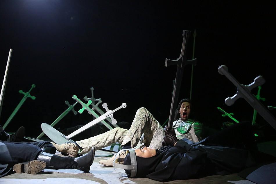 Floris Albrecht in de rol van Richard III. Foto: Koen Timmerman